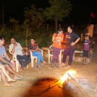 Campfire with family friends