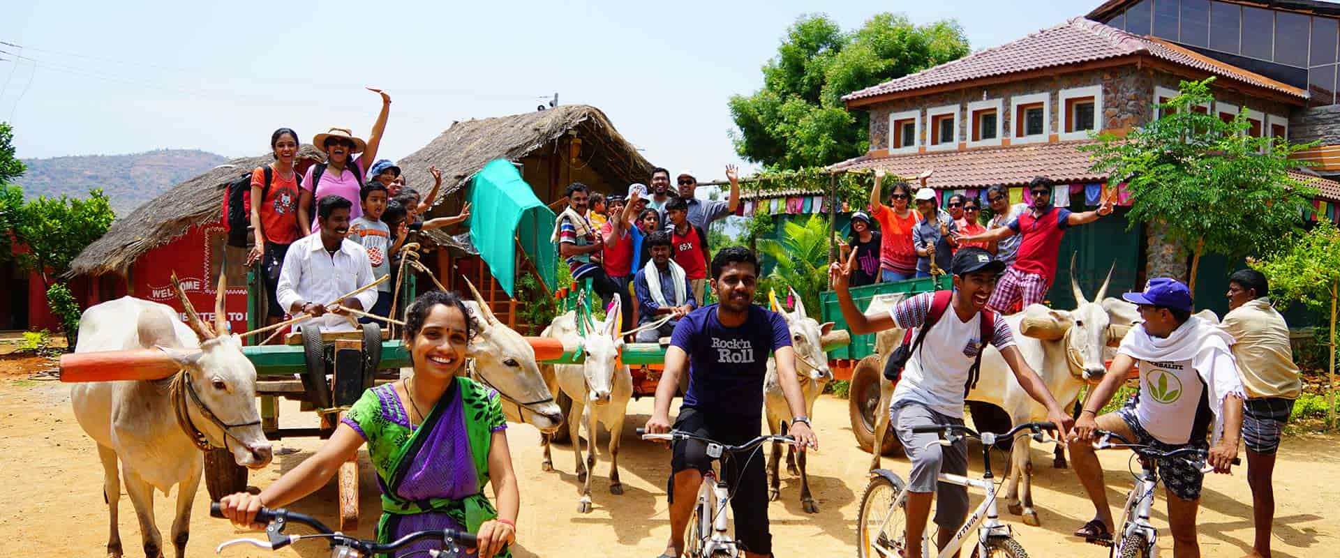 Enjoying Bullock Cart Ride and Cycling at Chhukkimane