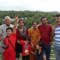 Family outing to shivanasamudra waterfalls near Bangalore