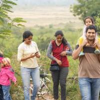 Family trekking near to chukki hills near Bangalore