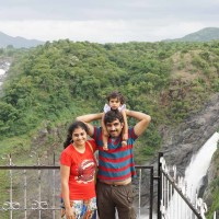 Family trip to Shivanasamudra waterfalls