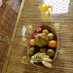 Fresh organic fruits served at Chukki Mane