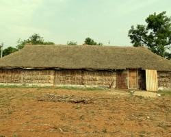 Huts built with natural materials