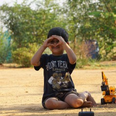 Kids fun activity at resorts near Shivanasamudra