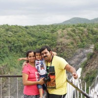 Family outing to Shivanasamudra waterfalls