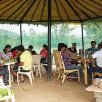 Open dining facility at ChukkiMane near Bangalore