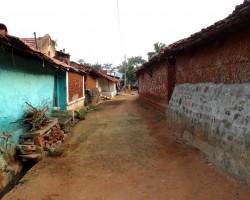Row houses in village near ChukkiMane