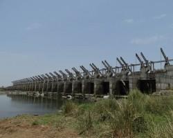 View of historic dam