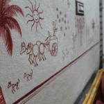Warli art village life bullockcart ride